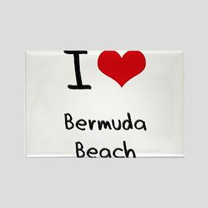I Love BERMUDA BEACH Rectangle Magnet
