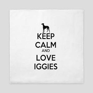 Keep Calm and Love Iggies Queen Duvet