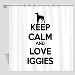 Keep Calm and Love Iggies Shower Curtain