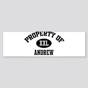 Property of Andrew Bumper Sticker