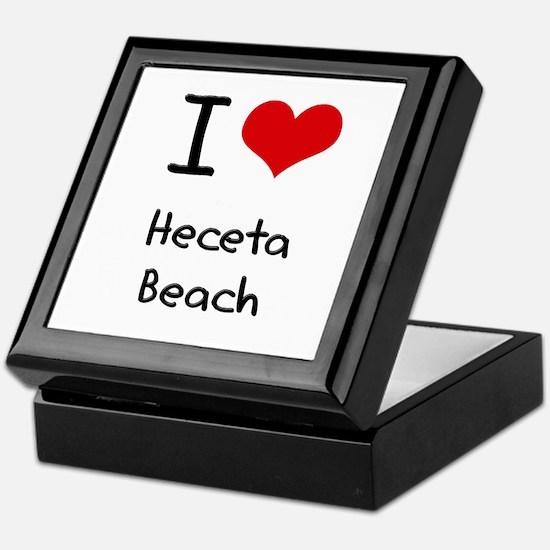 I Love HECETA BEACH Keepsake Box