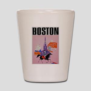 Vintage Boston MA Travel Shot Glass