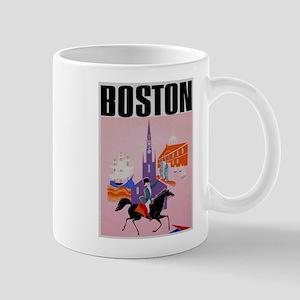 Vintage Boston MA Travel Mug