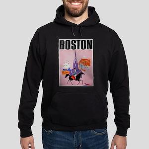 Vintage Boston MA Travel Hoodie
