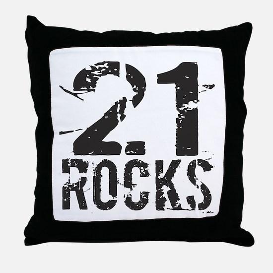 21st Birthday Rocks Throw Pillow