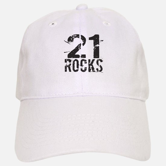 21st Birthday Rocks Baseball Baseball Cap