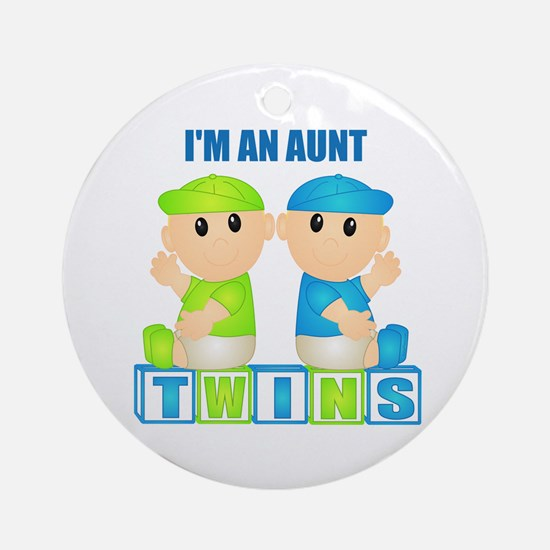 I'm An Aunt (BBB:blk) Ornament (Round)