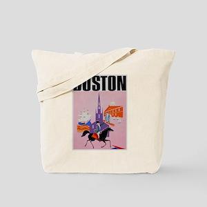 Vintage Boston MA Travel Tote Bag