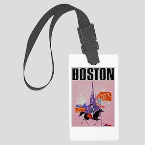 Vintage Boston MA Travel Luggage Tag