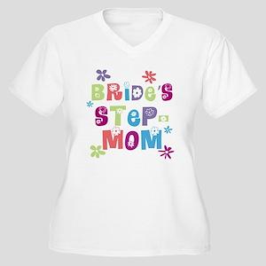 Bride's Step-Mom Women's Plus Size V-Neck T-Shirt