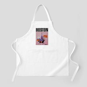 Vintage Boston MA Travel Apron