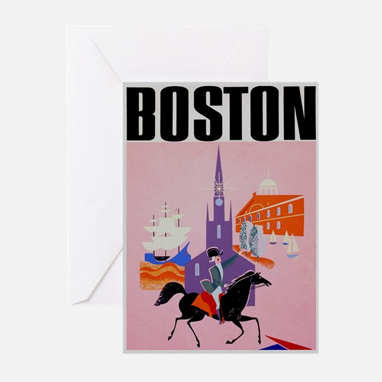 Vintage Boston MA Travel Greeting Cards (Pk of 10)