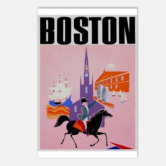 Vintage Boston MA Travel Postcards (Package of 8)