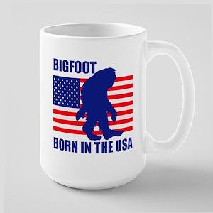 Bigfoot born in USA Large Mug