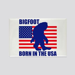 Bigfoot born in USA Rectangle Magnet
