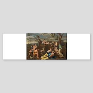 Follower of Nicolas Poussin - Nymphs Feeding the B