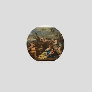 Follower of Nicolas Poussin - Nymphs Feeding the M