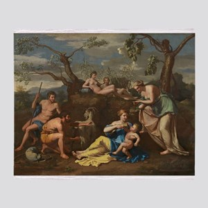 Follower of Nicolas Poussin - Nymphs Feeding the T