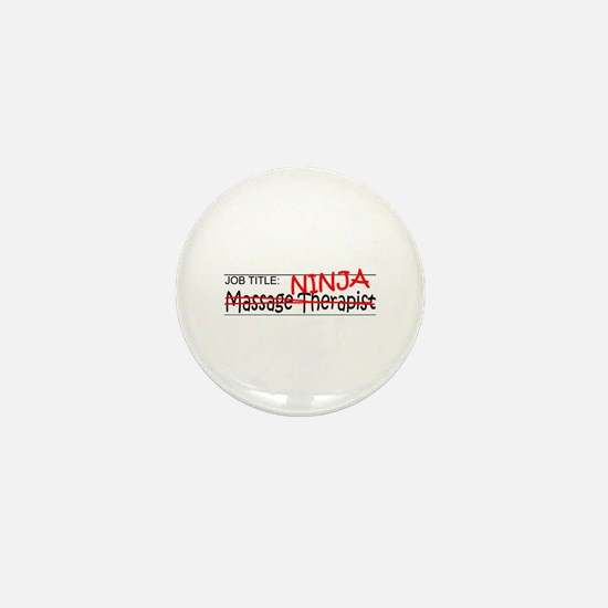 Job Ninja Massage Therapist Mini Button