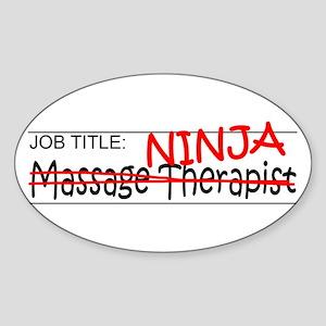 Job Ninja Massage Therapist Sticker (Oval)