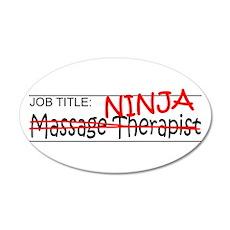 Job Ninja Massage Therapist Wall Decal