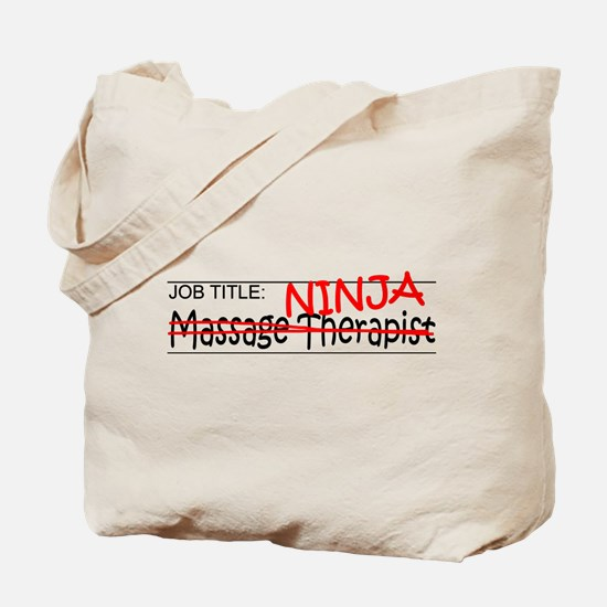 Job Ninja Massage Therapist Tote Bag