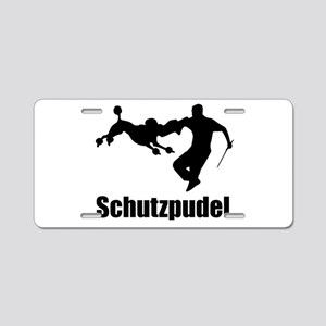 Black Schutzpudel Aluminum License Plate