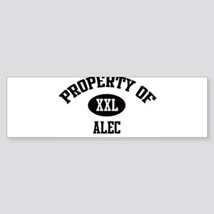 Property of Alec Bumper Sticker