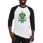 Bold Green Robot Baseball Jersey