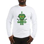Bold Green Robot Long Sleeve T-Shirt