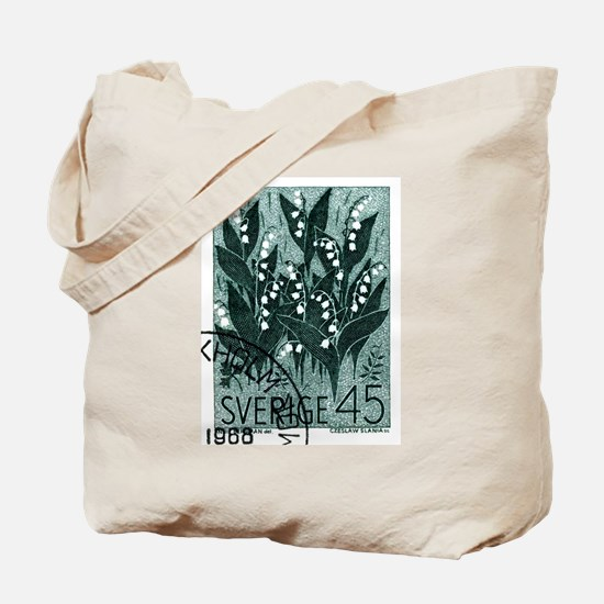 1968 Sweden Lily of The Valley Postage Stamp Tote