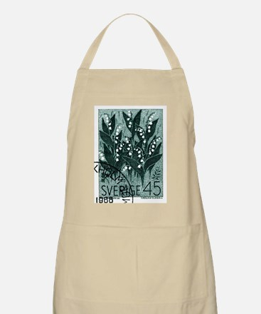 1968 Sweden Lily of The Valley Postage Stamp Apron