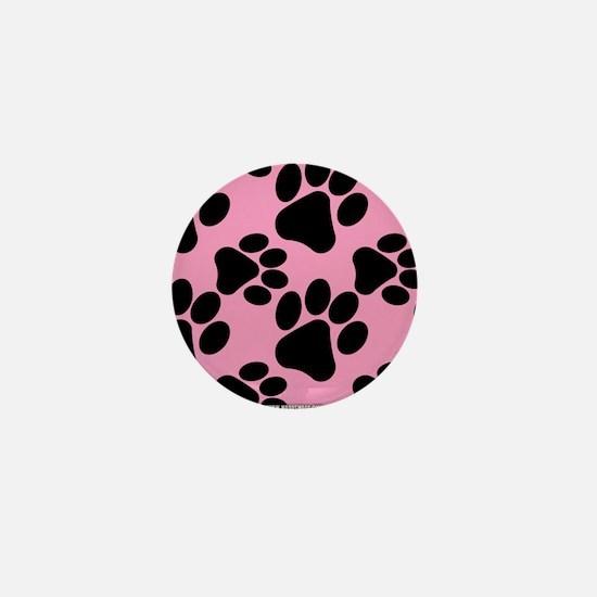 Dog Paws Pink Mini Button