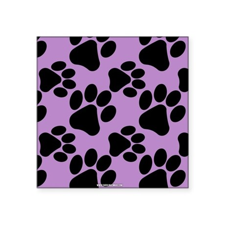 Dog Paws Light Purple Sticker