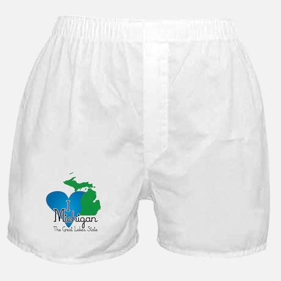 I Heart Michigan Boxer Shorts
