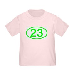 Number 23 Oval T