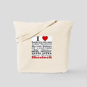 I Heart Sherlock Tote Bag