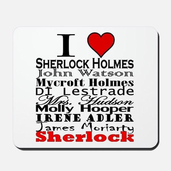 I Heart Sherlock Mousepad