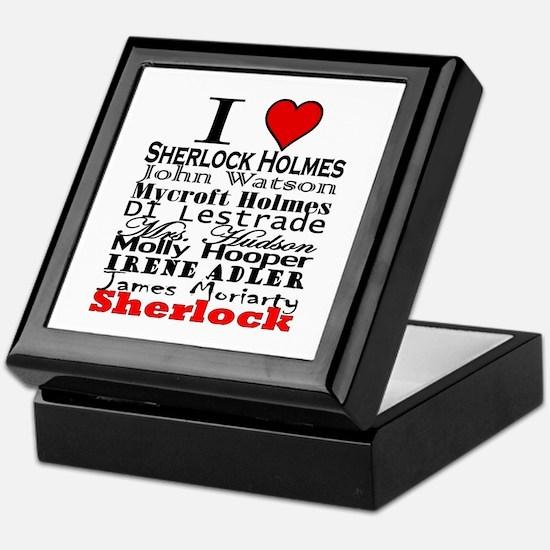 I Heart Sherlock Keepsake Box
