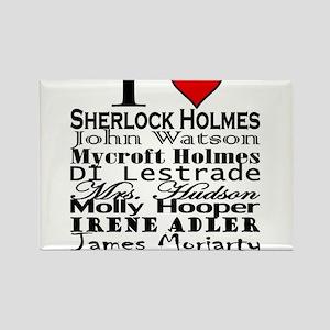 I Heart Sherlock Rectangle Magnet