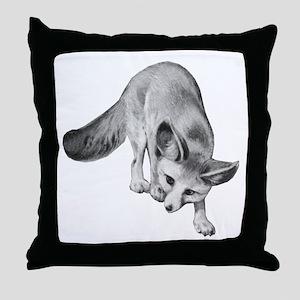 Fennec Desert Fox Throw Pillow