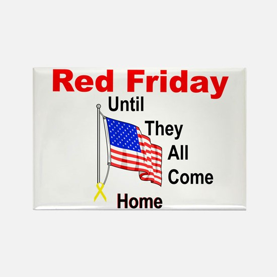 Red Friday (yellow ribbon) Rectangle Magnet (10 pa