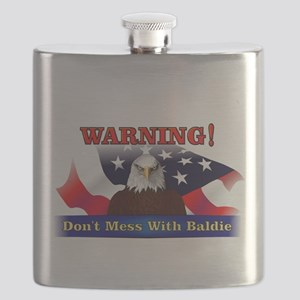 Don't mess with baldie! Flask