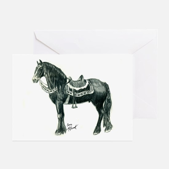 """Medieval Friesian"" Greeting Cards (Pack"