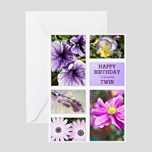Birthday wishes for twins greeting cards cafepress twin birthday card greeting card m4hsunfo
