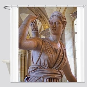 Artemis at the louvre Shower Curtain