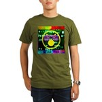 Star Pig Disco Graphic Organic Men's T-Shirt (dark