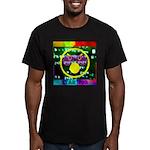Star Pig Disco Graphic Men's Fitted T-Shirt (dark)