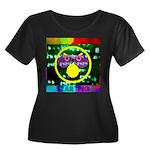 Star Pig Disco Graphic Women's Plus Size Scoop Nec
