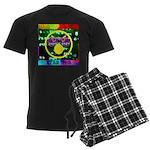 Star Pig Disco Graphic Men's Dark Pajamas